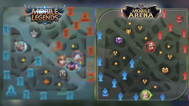 peta mobile legends dan mobile arena