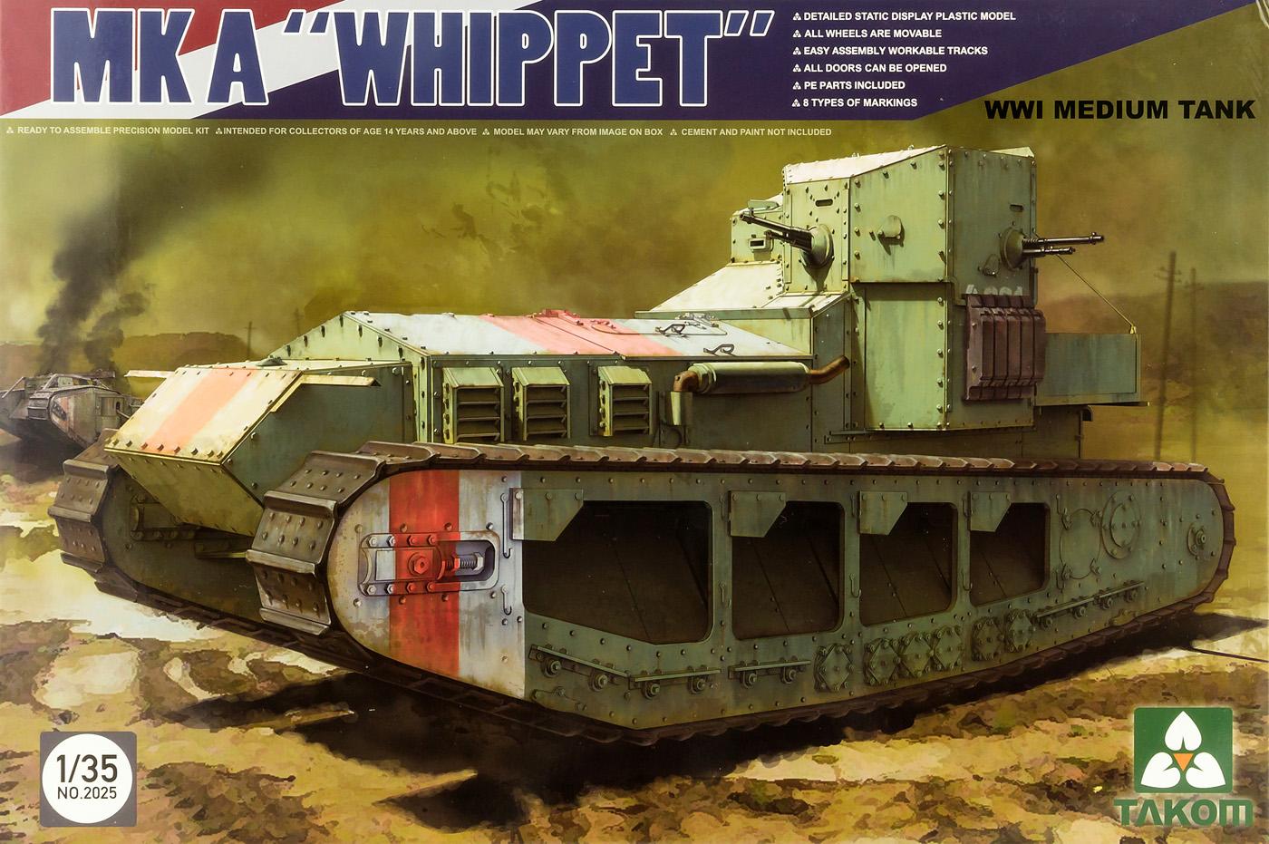 The Modelling News: Takom Whippet Mk A build Pt III