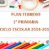 PLANEACIÓN FEBRERO 1° PRIMARIA CICLO ESCOLAR 2018-2019.