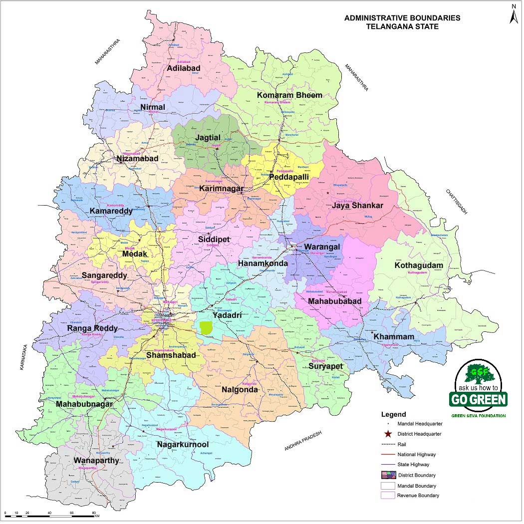 this newly formed telangana state comprises 10 districts hyderabad adilabad khammam karimnagar mahbubnagar medak nalgonda nizamabad