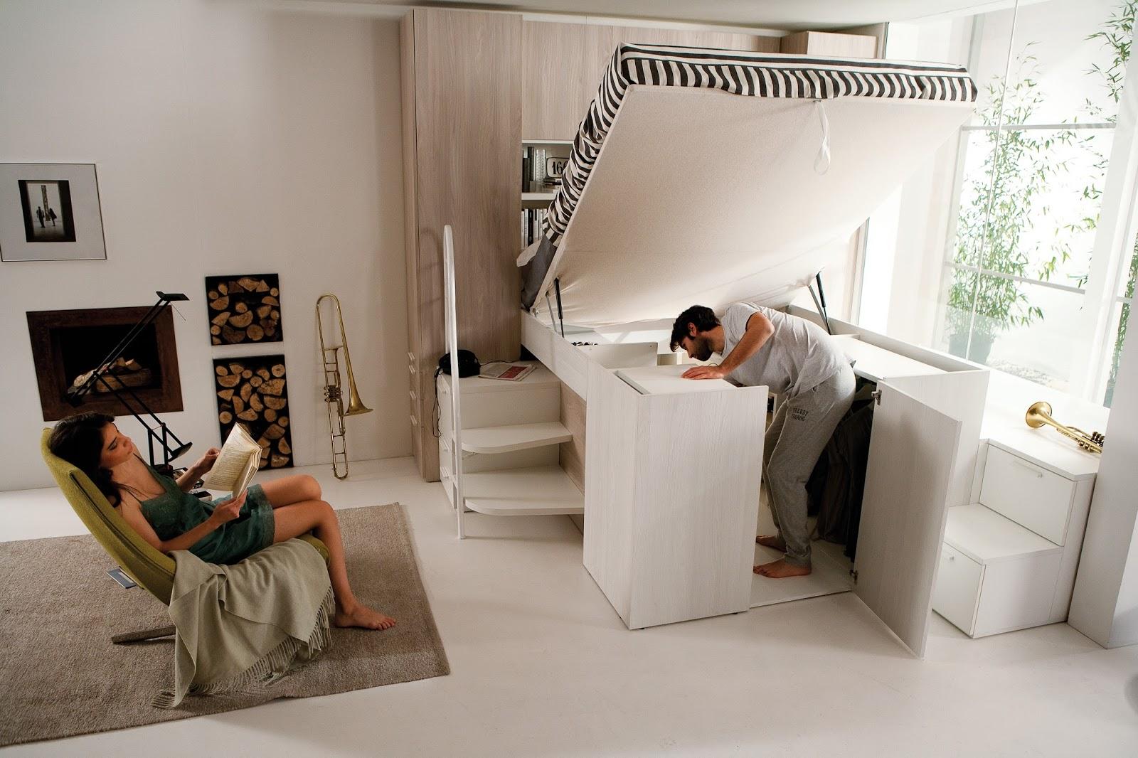 Arredamenti Ballabio Lissone: Container Il letto con larmadio sotto,