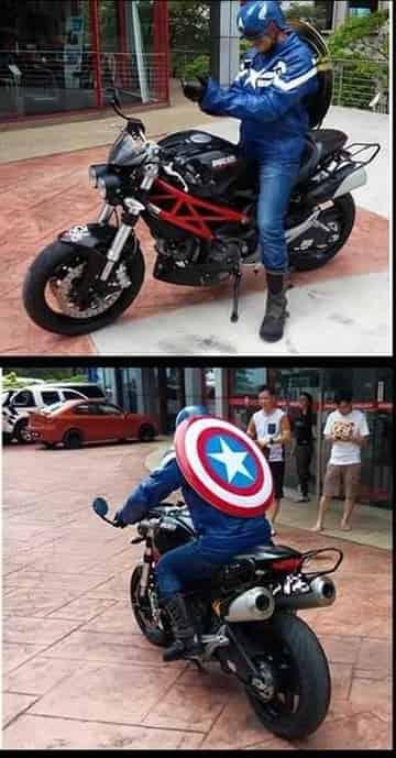 Johor Amazing Stories - Captain America 'patrolling' Johor Baru scene