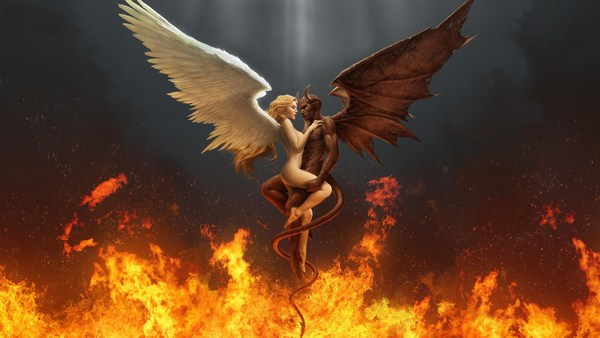 Awesome Devil and beautiful Angel Images Together in HD