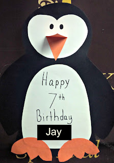 Happy Birthday Penguin Sign