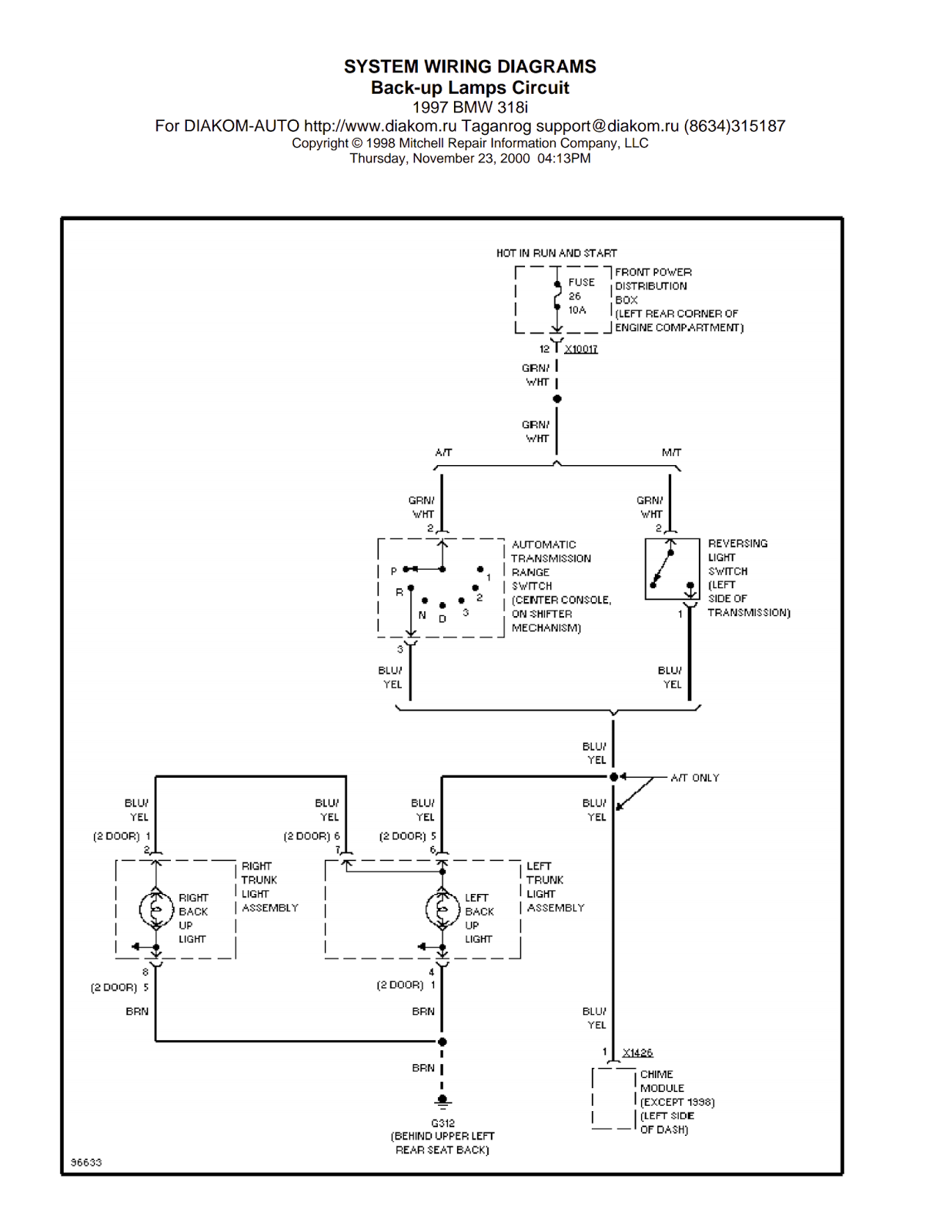 Wiring Diagrams and Free Manual Ebooks: 1997 BMW 318i Back