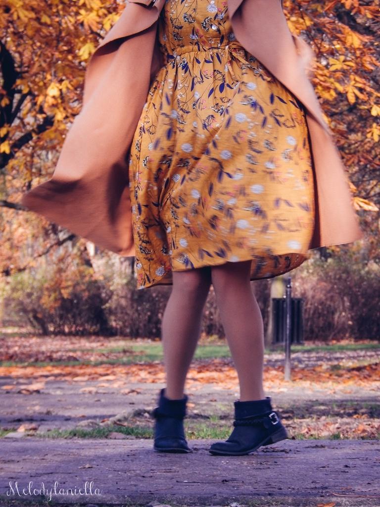6 beżowy wiązany płaszcz na jesień wiosnę zimę beżowy kapelusz jak nosić kapelusz sukienka na jesień żółta w kwiaty zegarek daniel wellington kod rabatowy promocje rosegal zaful opinie moda fashion blogerka łódź