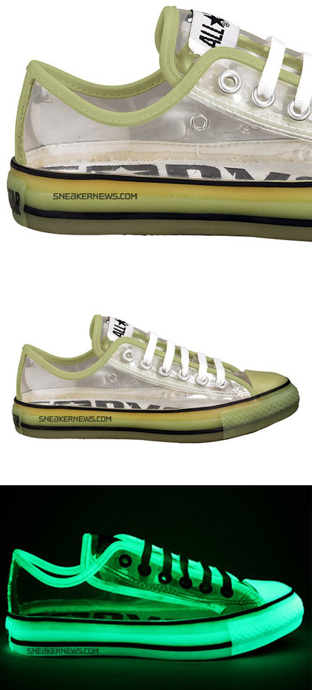 Glow In The Dark Clear Converse Shoes