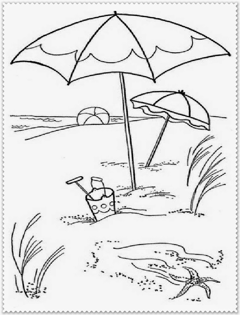 black and white summer coloring pages