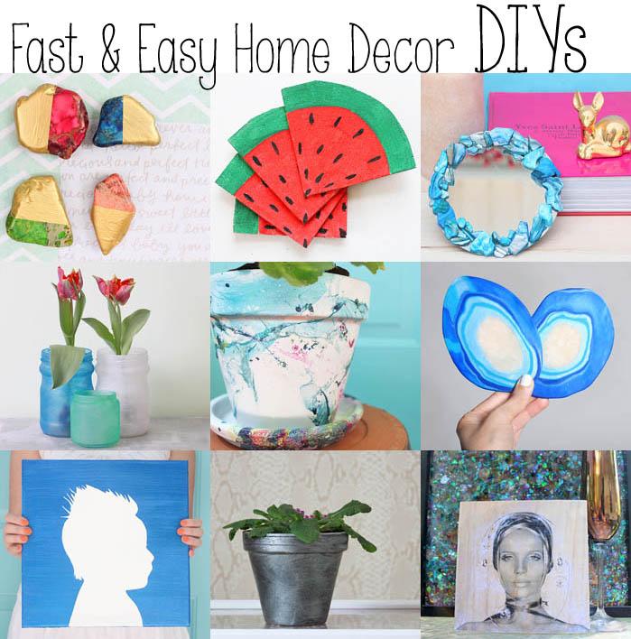 Easy Home Decor: 10 Fast & Easy Home Decor DIYs