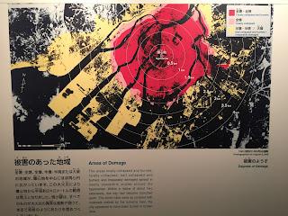 Mapa de los daños sufridos por la ciudad