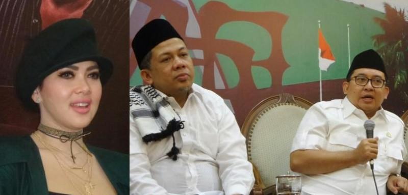 Syahrini, Fahri Hamzah dan Fadli Zon