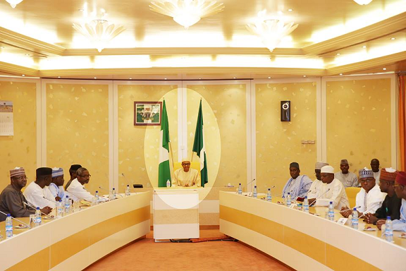 buhari meeting house of reps members