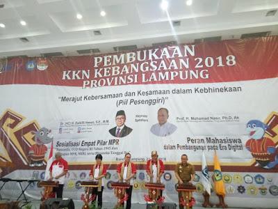 Zulkifli Hasan Lepas Mahasiswa KKN Kebangsaan