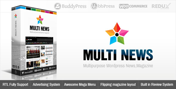 قالب ووردبريس Multinews v2.4.1