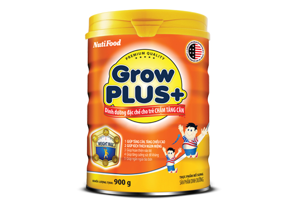 Sữa Grow Plus bổ sung hàng ngày giúp trẻ phát triển toàn diện về thể chất và trí tuệ