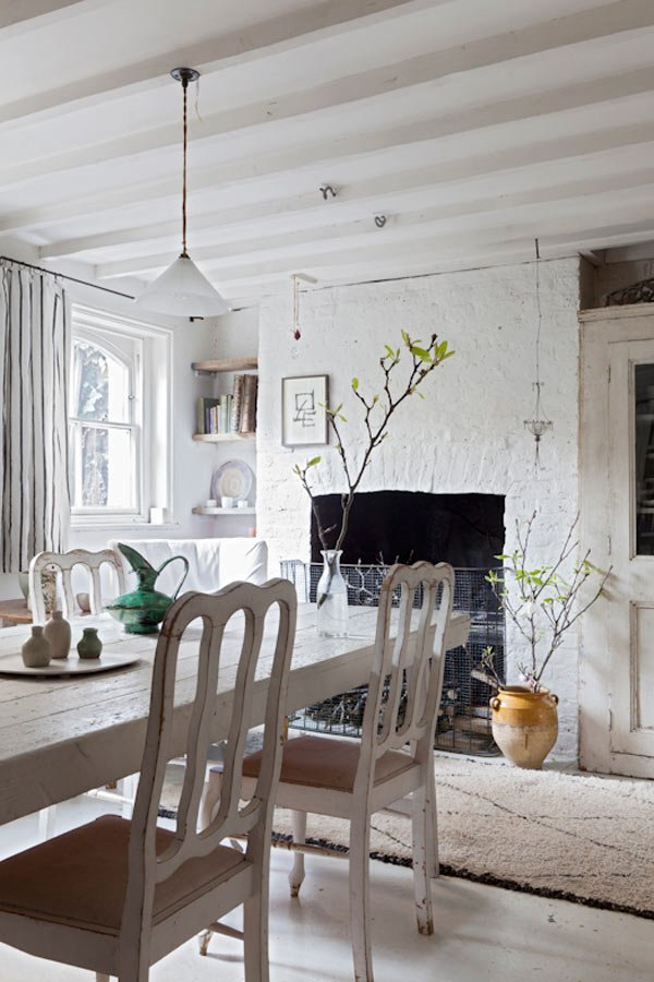 Country Shabby Chic Dining Room