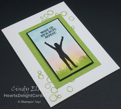 Heart's Delight Cards, Enjoy Life, Playful Backgrounds, Stampin' Up!