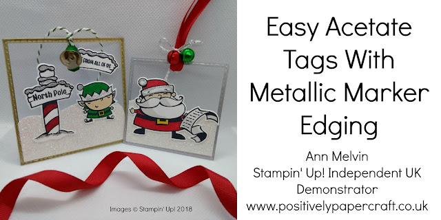 Signs of Santa Acetate tags Ann Melvin Stampin' Up! UK Independent Demonstrator