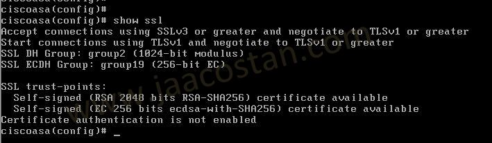 Cisco ASA: Disable SSLv3 and configure TLSv1 2  ~ Jaacostan