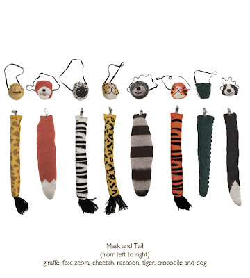 mask and tail dress up kit