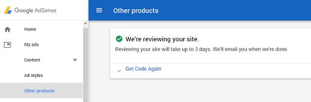 Cara Mohon Google AdSense selepas penukaran domain