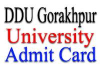 DDU Gorakhpur Hall ticket
