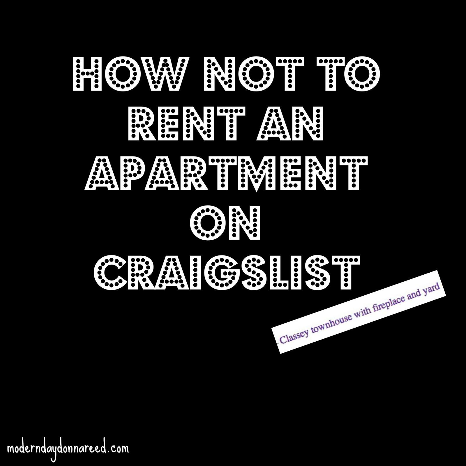 Craigslist Apartment Rentals: How Not To Rent An Apartment On Craigslist