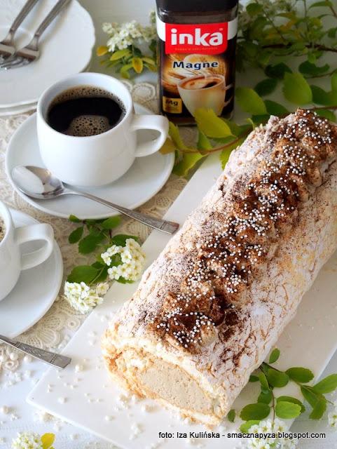 najlepsza beza, krem kawowy, deser, bezy, ulubiony deser mamy, dla mojej mamy, ciasto dla mamy, kawa inka, inka z magnezem, kawa zbozowa, przepis na beze, blat bezowy