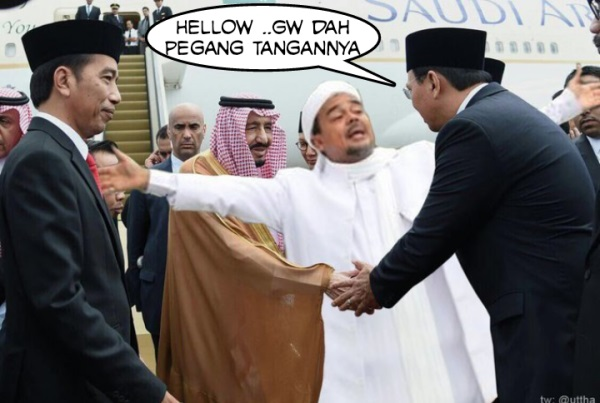 LAGI VIRAL - Beredar Foto Meme AHOK Bersalaman dengan Raja Salman di Medsos Bikin Ngakak Para Nitizen
