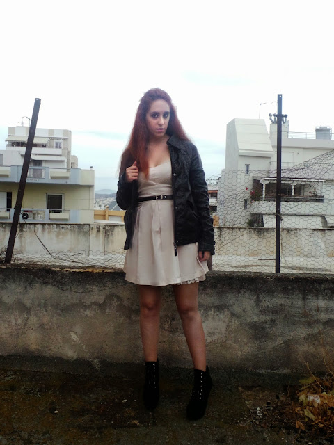 Redhead, lace dress, zara boots, zara, bershka, dress, the redhead,makeup, smokey eyes, rock, winter, 2013, 2014