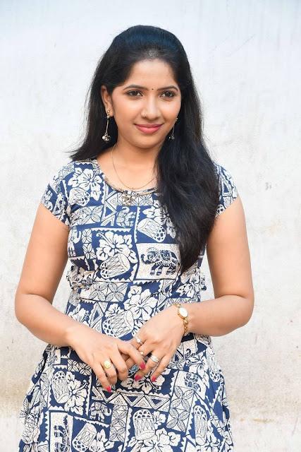 Hindu Latest Hot Glamourous Blue Printed Skirt PhotoShoot Images At Gopyam Movie Launch
