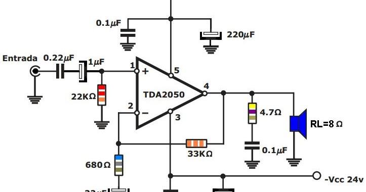 AMPLIFICADOR TDA2050 PDF