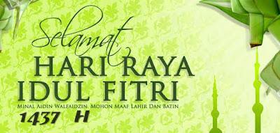 Kios Advertising Mengucapkan Selamat Idul Fitri 1437 H