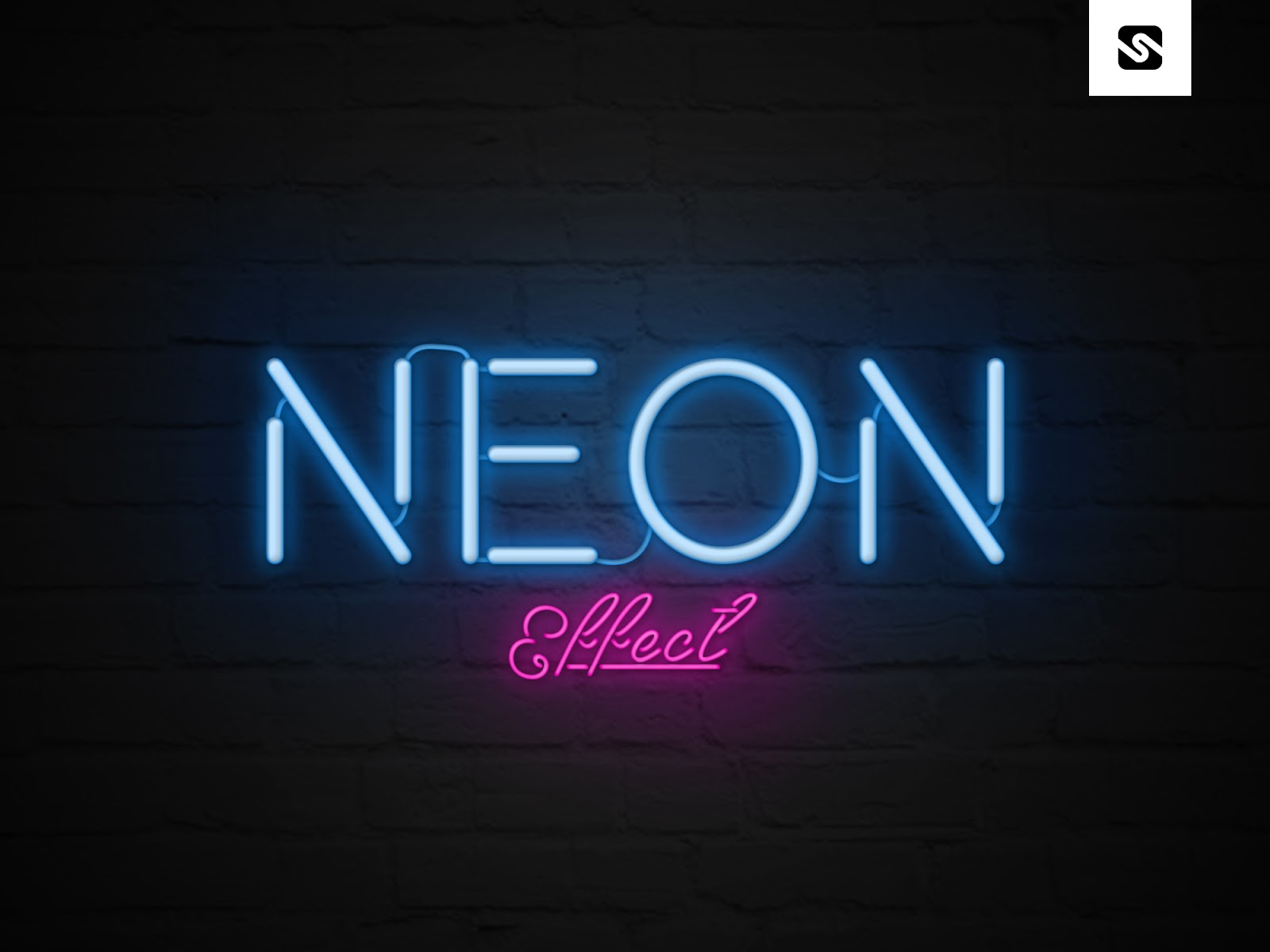 Free Download Neon Text Effect Template Psd File