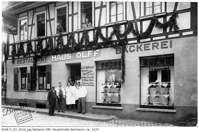 BIAB D_02_0016.jpg Bäckerei Olff, Hauptstraße 41, Mitte der 20er Jahre, Bild zur Verfügung gestellt von Ferdinand Woißyk
