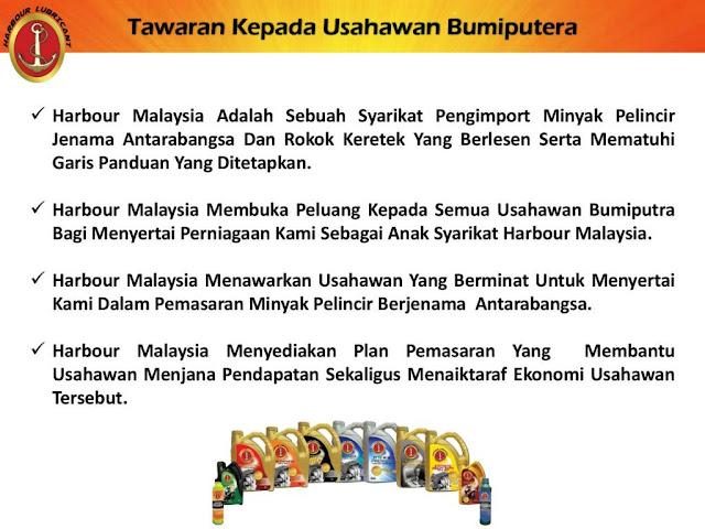 Peluang menjana pendapatan melalui Plan Pemasaran Harbour Lubricant Oleh Harbour Malaysia Group HMG2U