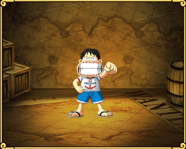 Monkey D Luffy Line One Piece Treasure Cruise Wikia
