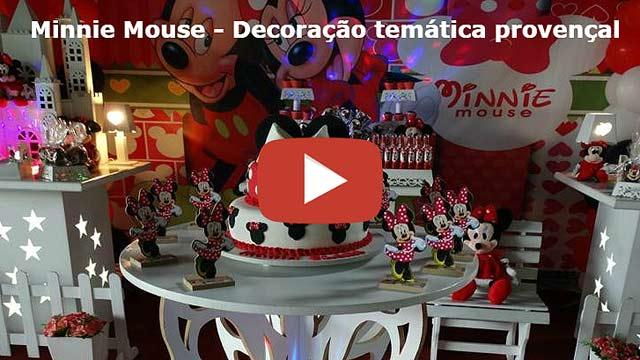 Vídeo decoração provençal Minnie Mouse Vermelha
