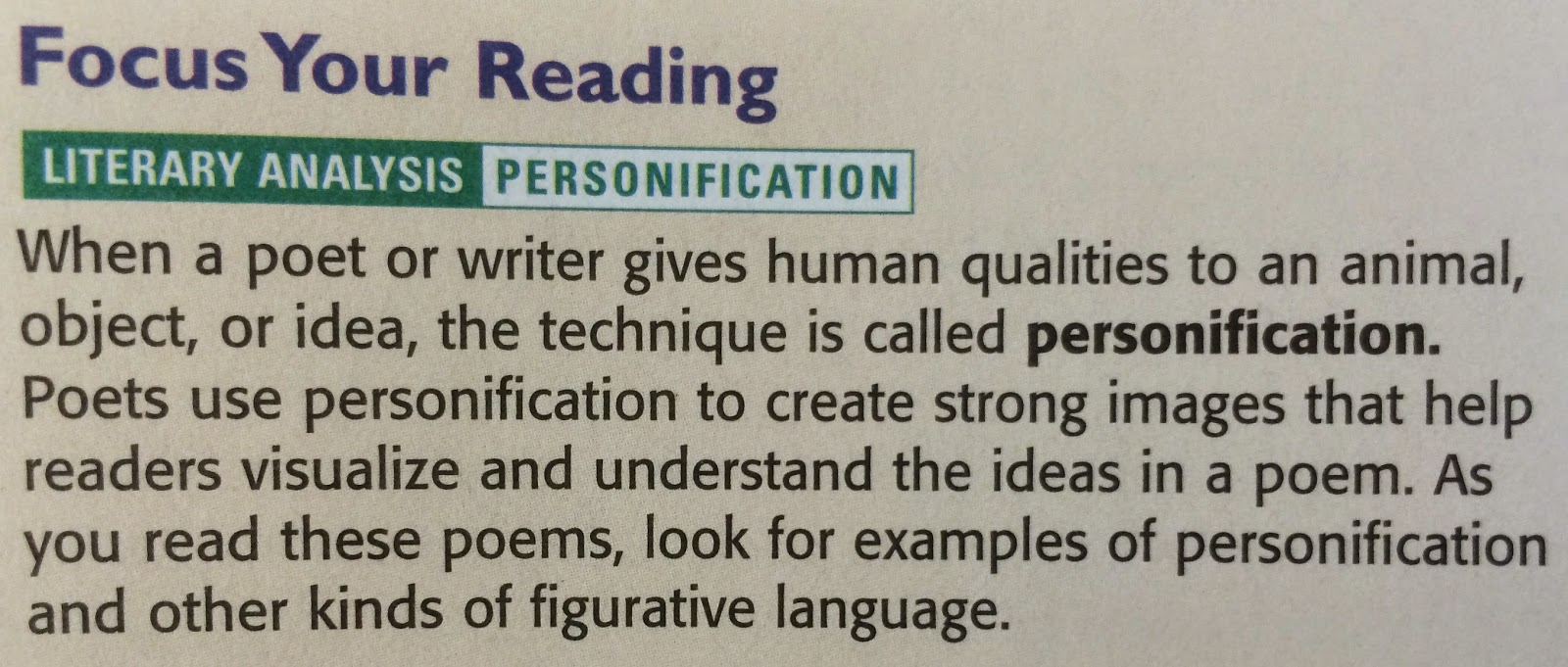 language arts mr mcginty personification in poetry as you today s poems be on the lookout for personification as the poets work to give human qualities to things that are decidedly non human