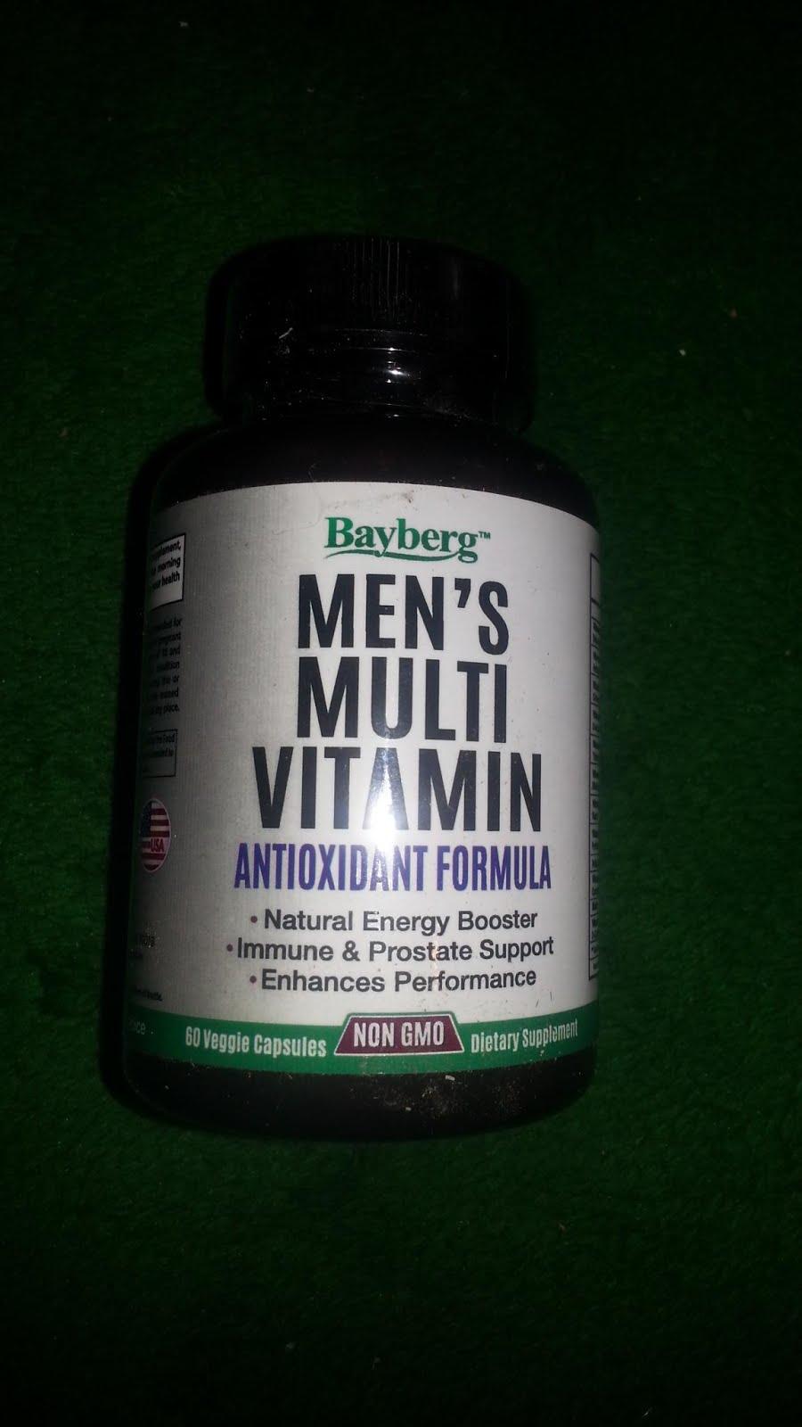 Bayberg Men's Multivitamin Antioxidant Energy Supplement with