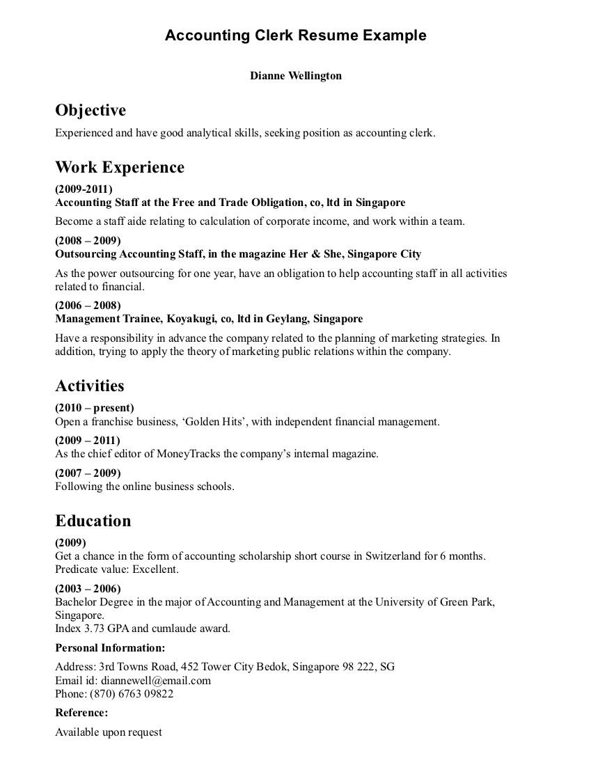 good resume examples for sales clerk