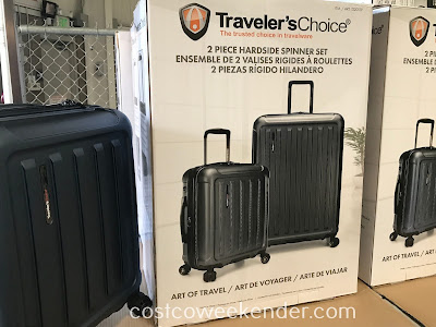 Costco 1220129 - Make traveling easier with the Traveler's Choice Art of Travel 2 Piece Hardside Spinner Set