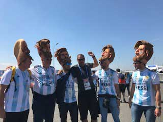 Argentina fans in Moscow, Russia 2018