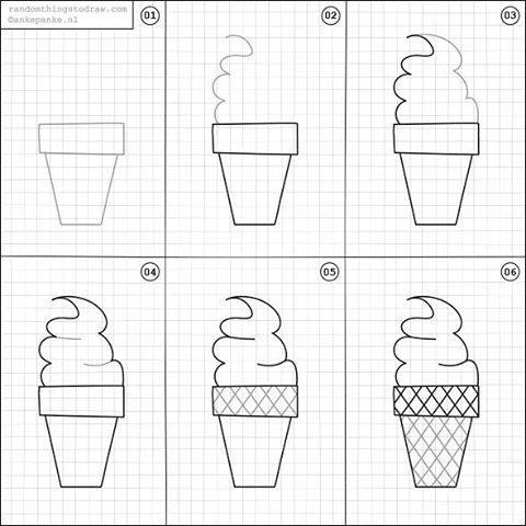 Learn to draw ice cream for kids