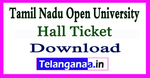 TNOU Term UG PG  End Exam Hall Ticket June 2018 admit card Download