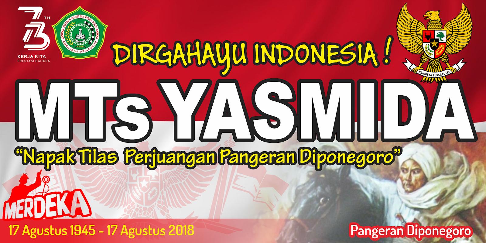 Design Banner 17 Agustus Dirgahayu Indonesia MTs Yasmida