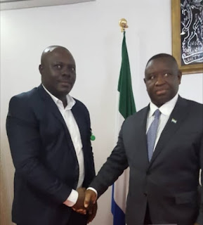 BREAKING!!! OMPAN & ABN Editor-in-Chief, Okali Meets with New S'Leone President in Freetown Today (Photos)