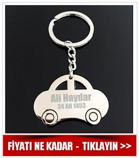 araba anahtarlık kişiye özel