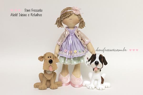Boneca e Cachorros, Ideias e Retalhos por Dani Fressato