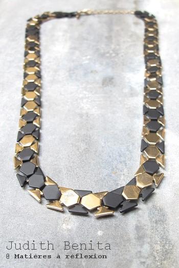 Judith Benita collier noir et doré